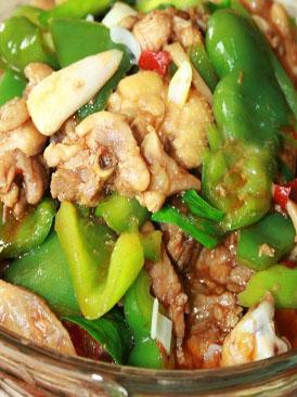 青椒炒子鸡