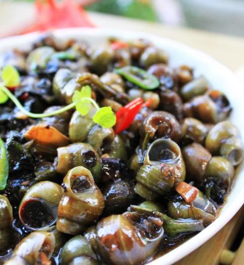 【紫苏豉酱炒石螺】紫苏豉酱炒石螺的做法大全