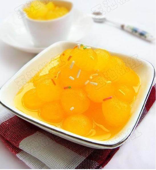 橙汁冬瓜球的做法步骤_3