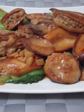 杏鲍菇肉盒烧油菜