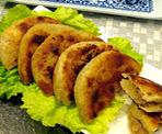 莲藕雪梨肉饼