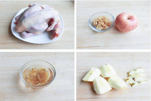 冬季吃水果的最佳方式 苹果百合鸡汤_2