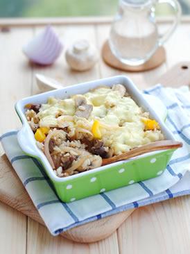 蘑菇牛肉焗饭