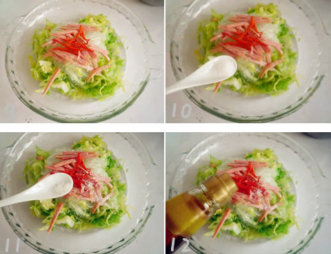 【椒油炝拌圆白菜】椒油炝拌圆白菜的做法大全