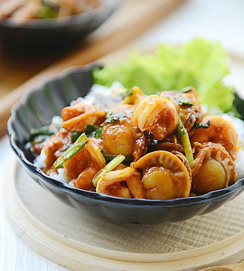 韩式海鲜拌饭图片