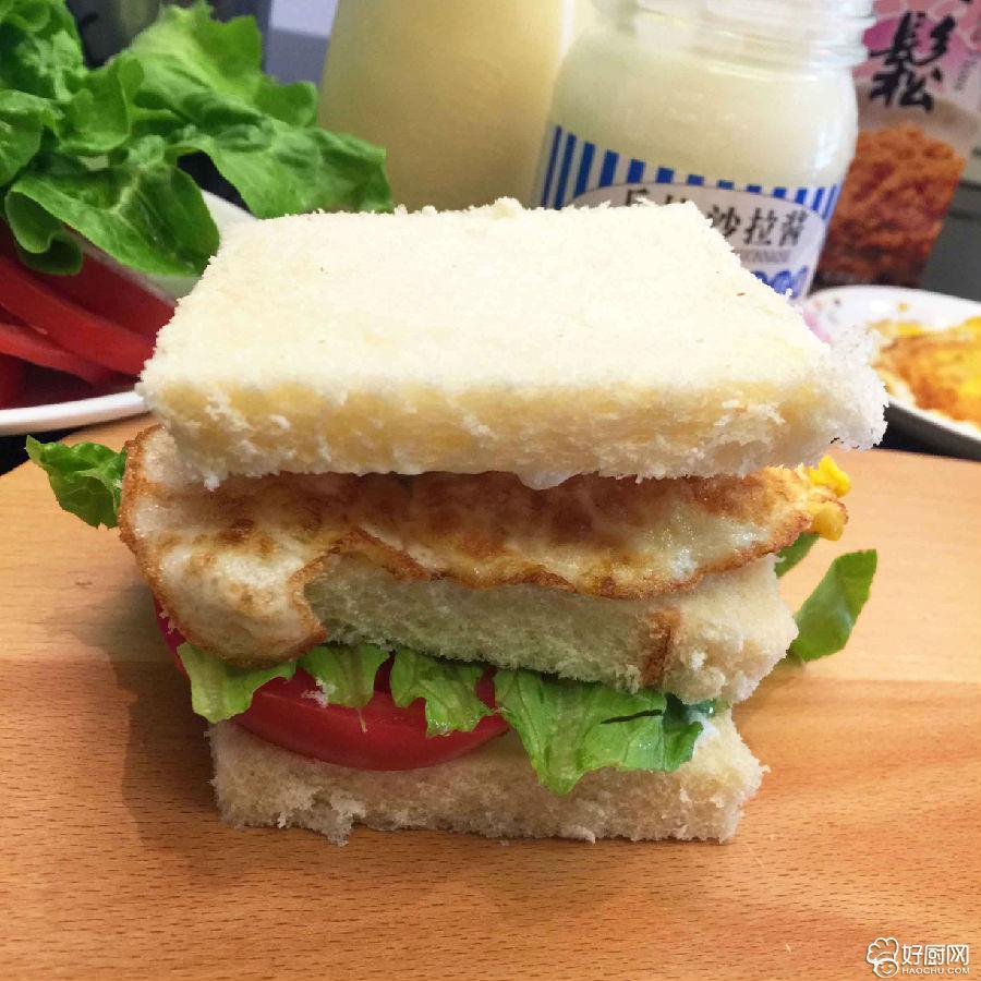 最简单的鸡蛋三明治便当_2