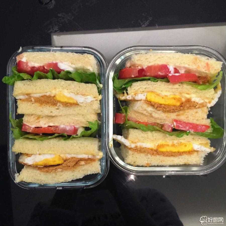 最简单的鸡蛋三明治便当_3