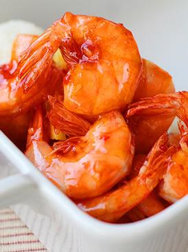 凤梨甜辣虾
