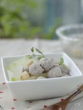 干贝冬瓜肉丸汤