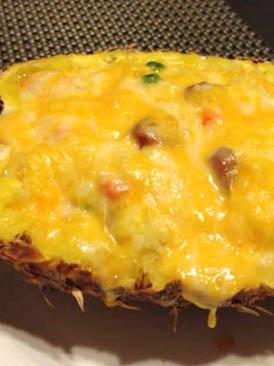 芝士焗菠萝海鲜饭的做法(好厨网)
