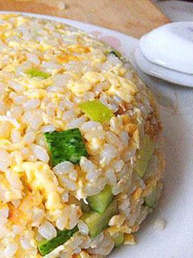 黄瓜蛋炒饭