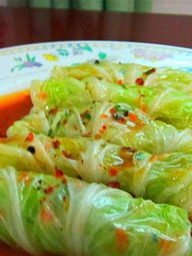 熟餡白菜卷