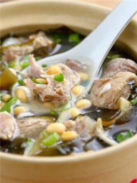 黄豆海带排骨汤