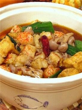 水煮蟹肉豆腐煲