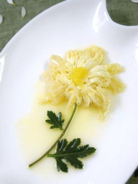 橙汁菊花玉子豆腐