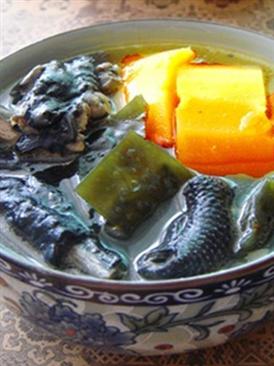 乌鸡海带木瓜汤