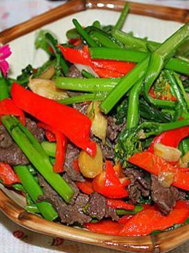 牛肉炒菜心