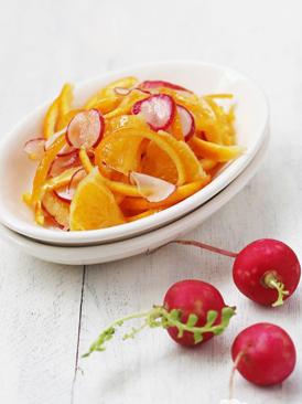 甜橙樱桃萝卜