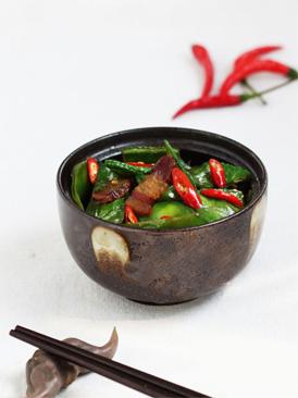 腊肉炒扁豆
