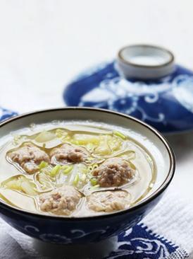 白菜羊肉丸子汤