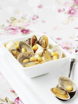 黄豆文蛤豆腐汤