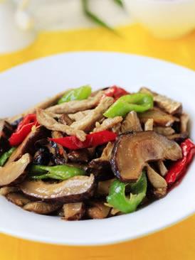 香菇炒羊肉丝
