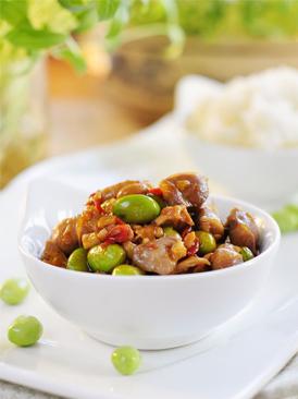 毛豆炒雞肫