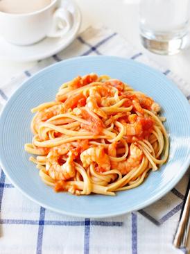 茄汁虾仁意面
