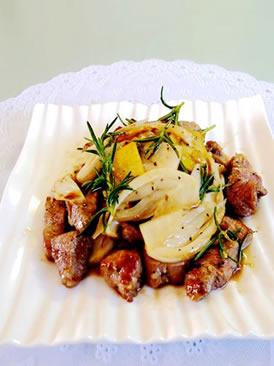 迷迭香炒羊肉