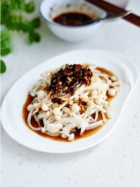 凉拌金针菇
