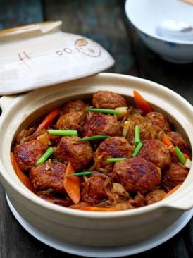 萝卜牛肉丸子粉丝煲