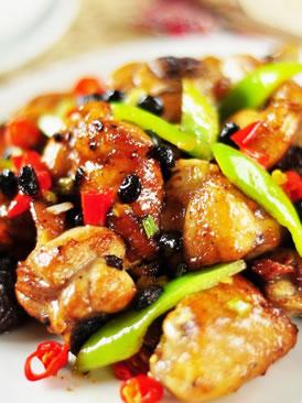 豆豉香菇鸡块