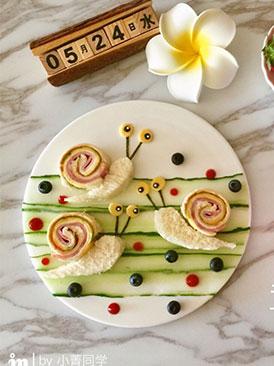 蜗牛创意三明治