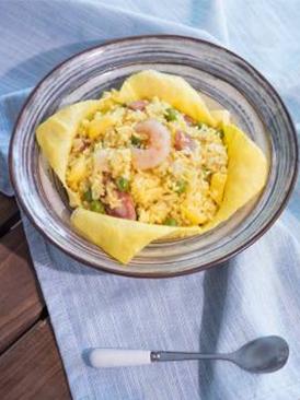 蛋包海鲜饭