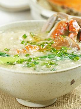 暖胃蟹肉粥