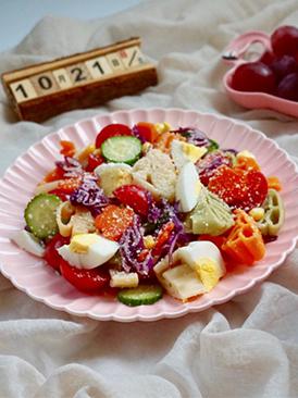 柚香多彩意面沙拉