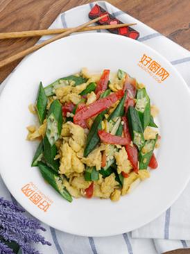 秋葵炒雞蛋
