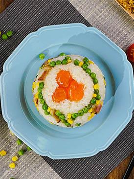 咸蛋肉松八寶飯