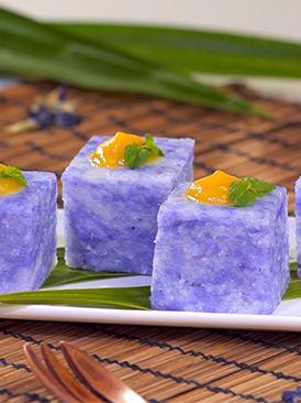 紫砂锅蓝花糯米糕