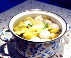 酸菜豆腐肉丸汤