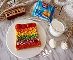 彩虹吐司披薩