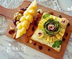 牛油果三文魚芝士花開放式三明治