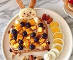 小兔子水果開放式三明治