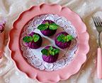 紫薯豆沙茶巾絞
