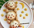 猴子撈月豆沙包