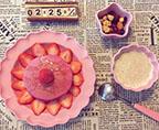 红心火龙果松饼