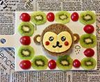 小猴子照燒三文魚蔬菜三明治