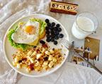 水煎蛋開放式三明治