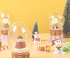 圣诞雪景球蛋糕