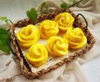 南瓜玫瑰花饅頭